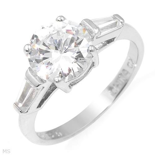 Amazing 3 Stone 9.41 ctw Cubic Zirconia Engagement Ring Size 7