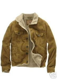 New Mens AEROPOSTALE Sherpa-Lined Corduroy Jacket Coat ~ MEDIUM ~