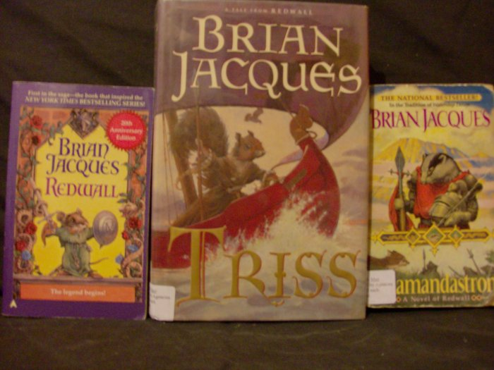 Set of Brain Jacques' Redwall Series (Redwall,  Triss, Salmandastran)