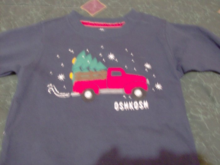 New Festive Oskosh Winter / Christmas Long Sleeve Shirt Sz. 18 months