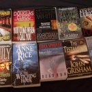 Lot of 10 Books Grisham, Bentley, Anne Rice, Spindler