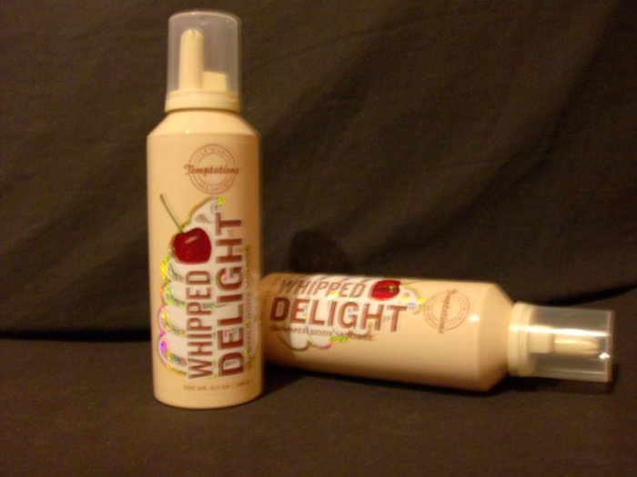 2 Bath and Body Works Temptations Whipped Delight Shimmer Body Mousse