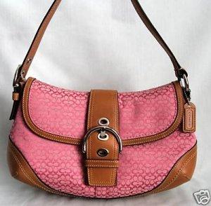 NWT Authentic COACH Pink Soho Minisig Flap Handbag