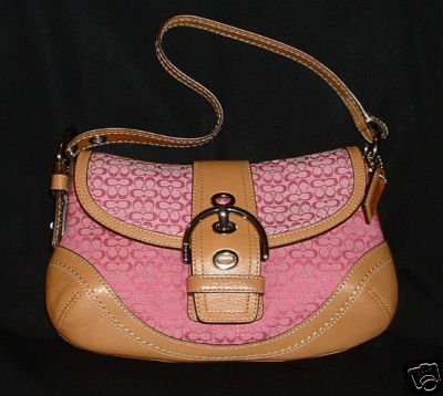 NWT Authentic COACH Pink Soho Med Sm Flap Handbag