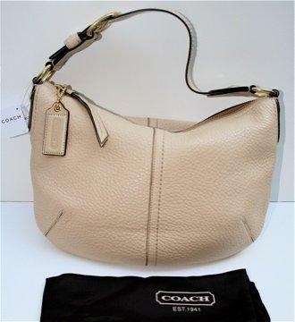 NWT Authentic COACH Sand Med Hobo Handbag