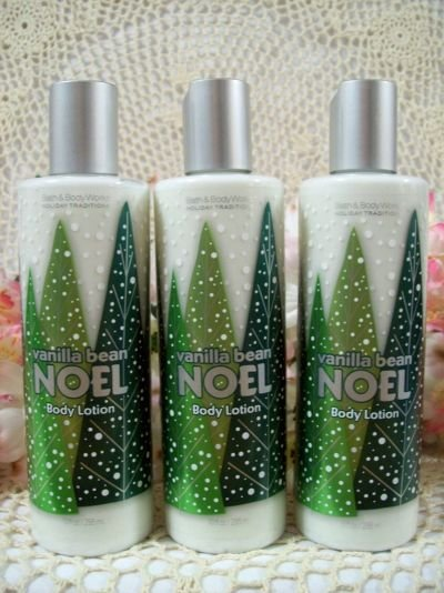Bath and Body Works Vanilla Bean Noel Body Lotion (3 bottles)
