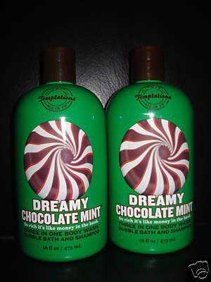 Bath and Body Works Dreamy Chocolate Mint 3 in 1 Gel x2