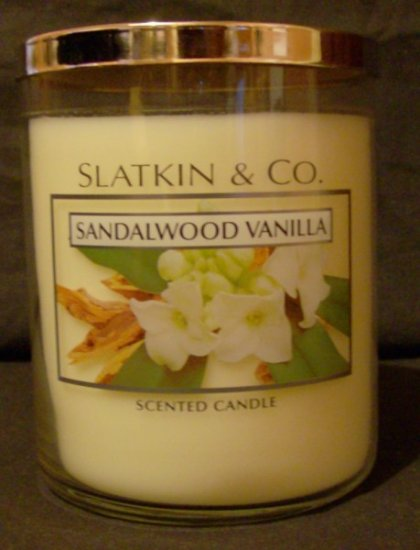 Bath and Body Works Slatkin Large Sandalwood Vanilla Candle