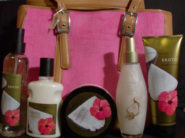 Bath and Body Works Exotic Coconut Gift Set