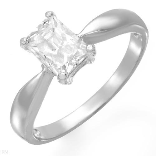 1.65 ctw Cubic Zirconia Princess Cut Engagement Ring Size 9