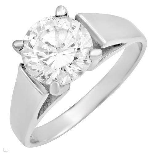 3.00 ctw Cubic Zirconia Brilliant Cut Engagement Ring Size 5
