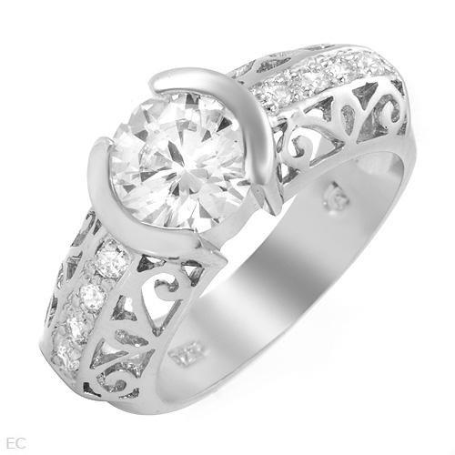 2.45 ctw Cubic Zirconia Round Plus Engagement Ring Size 5