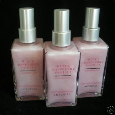 Bath and Body Works Black Raspberry Vanilla Shimmer Mist x2