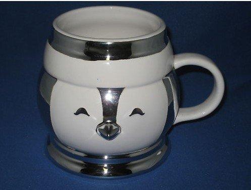 Bath and Body Works Slatkin Ceramic Snowman Mug Cup x4