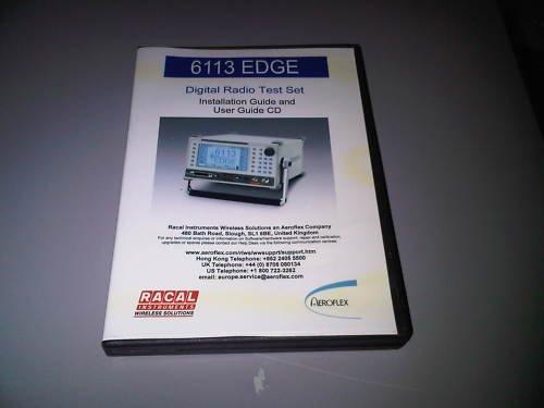 edge 6113 racal digital radio test set user guide cd. Black Bedroom Furniture Sets. Home Design Ideas