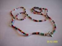 Multi Colored Beaded Necklace