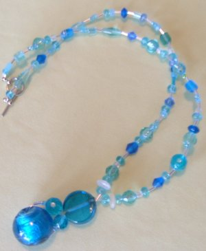 Blue Blazes Necklace