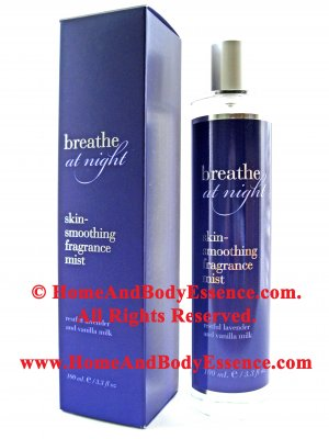 Bath & Body Works Breathe At Night Fragrance Mist Skin Smoothing Lavender Vanilla Milk Women's