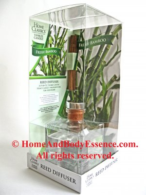 Yankee Candle Fresh Bamboo Reed Diffuser Fragranced Scented Fragrance Oil Home Classics