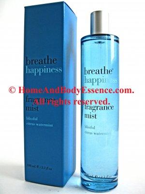 Bath & Body Works Breathe Happiness Perfume Fragrance Mist Citrus Watermint Scented Splash Spray