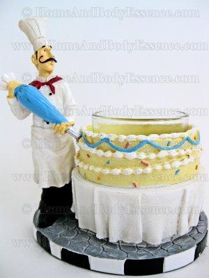 Yankee Candle Pastry Chef Votive Holder Bistro Baker Decorating Cake Home Fragrance Decor
