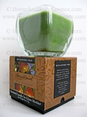 Harry & David Royal Riviera Pear Candle Scented Fragranced Filled Jar Home Fragrance Decor 8 oz