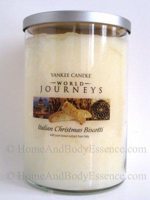 Yankee Candle Italian Christmas Biscotti World Journeys Scented Fragranced Jar Filled Tumbler 20 oz