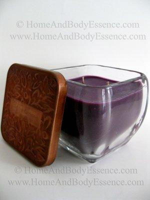 Harry & David Spiced Plum Scented Candle Fragranced Purple Home Fragrance Decor 18 oz