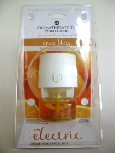 Yankee Candle True Bliss Tangerine Vanilla Aromatherapy Spa Electric Plug In & Home Fragrance Refill
