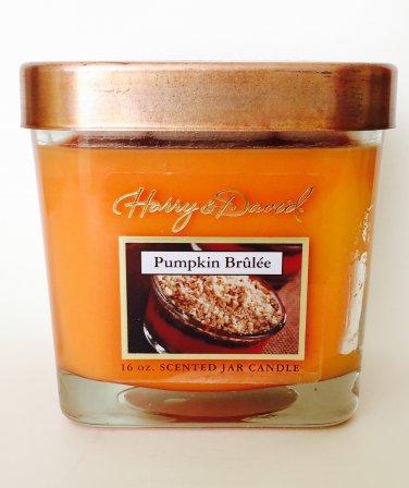 Harry & David Pumpkin Brulee Candle Scented 2 Wicks Fall Autumn Home Decor & Fragrances 16 oz