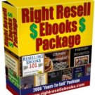 All of my eBooks with complete Resell Rights
