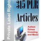315 PLR Articles