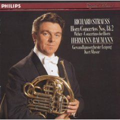 richard strauss horn concertos nos 1&2 / weber concertino  for horn CD 1984 polygram