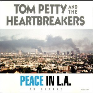 tom petty and the heartbreakers - peace in L.A. CD single 1992 MCA used mint