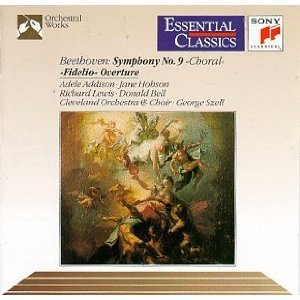 beethoven symphony no.9 & fidelio overture - szell hobson bell CD 1992 sony mint