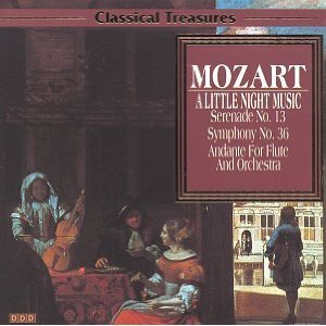 mozart a little night music / symphony no.36 / andante for flute & orch CD madacy used mint