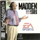 madden NFL '98 football - playstation CD-Rom 1997 players inc EA K-A used