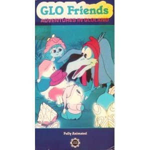 glo friends - adventures in gloland VHS 1986 sunbow hasbro 60 mins used VG