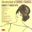 very best of connie francis - connie's 21 biggest hits CD 1986 polygram used mint