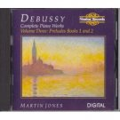 debussy complete piano works volume three preludes books 1 and 2 - martin jones CD 1989 nimbus mint