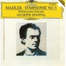 mahler symphonie no.5 - philharmonia orchestra and giuseppe sinopoli CD 1985 polydor DG used mint