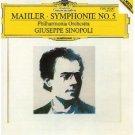 mahler symphonie no.5 - philharmonia orchestra and giuseppe sinopoli CD 1985 polydor DG used mint