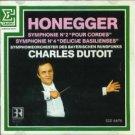 honegger - symphonie no.2 & no.4 - charles dutoit CD 1986 erato used mint