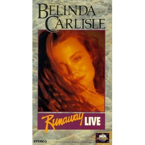 belinda carlisle - runaway live VHS 1991 MCA Universal 81 minutes used mint