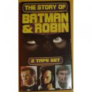 story of batman and robin - val kilmer michael keaton adam west VHS 1995 simitar used mint