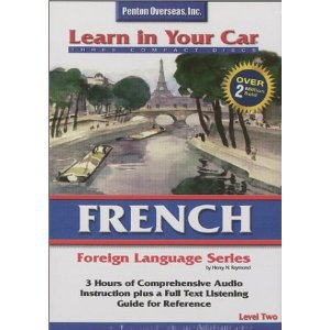 french level two - learn in your car CD 3-discs 1997 penton used mint