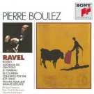pierre boulez - ravel orchestral works CD 3-disc box 1990 sony used mint