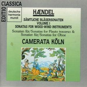 haendel - sonatas for woodwind instruments - camerata koln CD 1990 BMG used mint