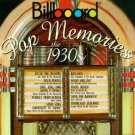 billboard pop memories the 1930s - various artists CD 1994 rhino sued mint