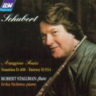Schubert Arpeggione Sonata & Sonatina D. 408 & Fantasy D. 934 - robert stallman flute CD 1991 ASV